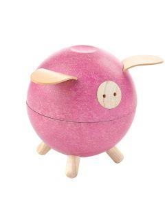 PLAN Toys Wooden Piggy Bank - Pink