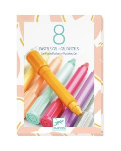 Djeco 8 Gel Pastels Sweet Colours