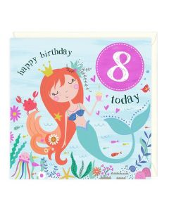 8th Birthday Card - Mermaid