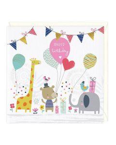 Happy Birthday Card - Animal Scene