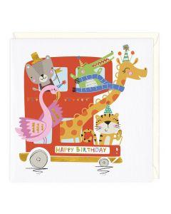 Happy Birthday - Animal Party Bus