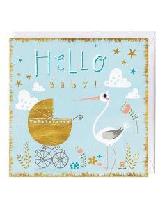 """Hello Baby"" New Baby Card"