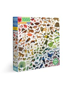 Eeboo A Rainbow World 1000 Piece Jigsaw Puzzle