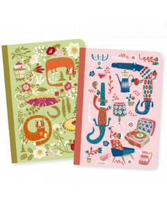 Asa Small Notebooks - Djeco Lovely Paper