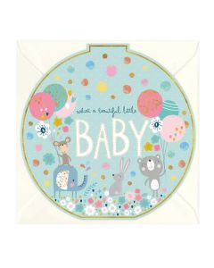 """""""Beautiful Little Baby"""" New Baby Card"""