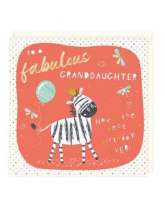 To A Fabulous Granddaughter Birthday Card