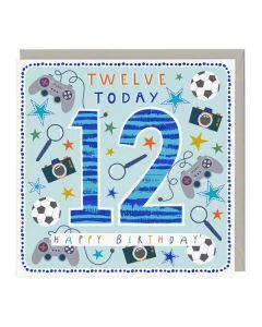 7th Birthday Card - Tiger
