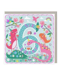 5th Birthday Card - Colourful Birds