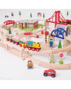 Bigjigs Freight Wooden Train Set