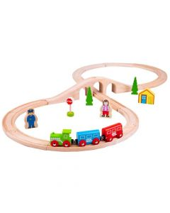 Bigjigs Figure of 8 Train Set BJT012
