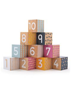 Bigjigs FSC Certified Wooden Number Blocks 32004