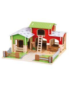 BigJigs Toys Cobblestone Farm