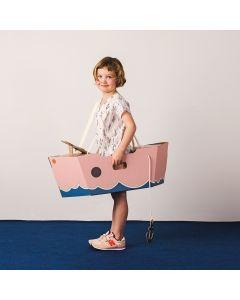 Pink Cardboard Boat Costume - save 40%