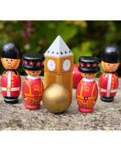 London Wooden Skittles - Orange Tree Toys