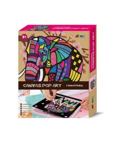 Avenir - Canvas Pop Art Stencil Printing - Elephant