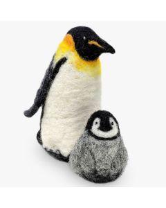 The Crafty Kit Co, Needle Felting Kit - Emperor Penguins