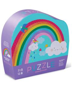 Crocodile Creek 12 piece Mini Puzzle - Rainbow