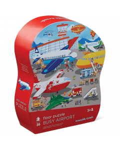 Crocodile Creek 36 pc Shaped Floor Puzzle - Busy Airport - save 10%