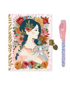Djeco Lovely Paper - Oana Secret Notebook and Secret Invisible Ink Pen