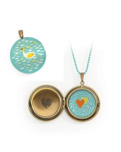 Djeco Lovely Paper - Lovely Surprise Swan Locket Necklace