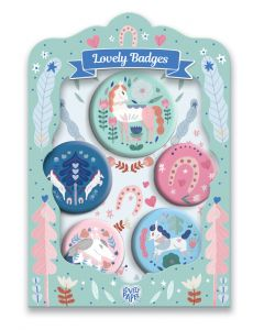 Djeco Lovely Paper - Horses Lovely Badges