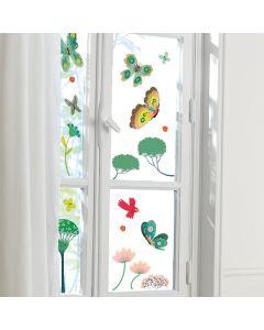 Djeco Butterflies In the Garden Window Stickers