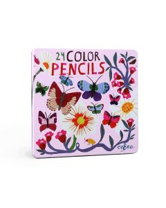 Eeboo 24 Deluxe Pencils - Butterflies & Flowers