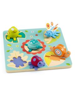 Djeco First Lift Out Puzzle Turtle and Friends