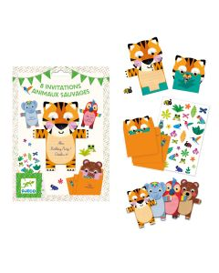 Djeco Party Invitations - Wild Animals