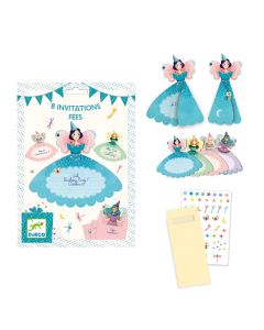 Djeco Party Invitations - Fairies