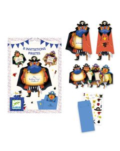 Djeco Party Invitations - Pirates - SAVE 25%