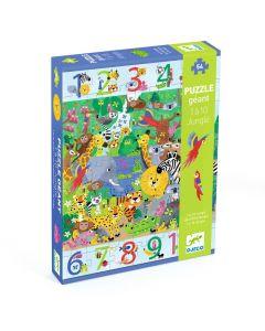 Djeco Puzzle - 1 to 10 Jungle - 54 pieces DJ07148