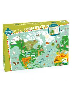 Djeco Observation Puzzle - Around the World + booklet