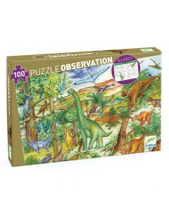 Dinosaurs + booklet - Djeco Observation Puzzle