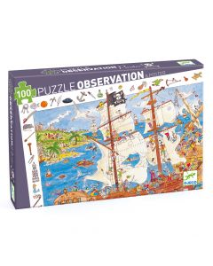 Djeco Pirates Observation Jigsaw Puzzle