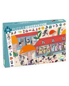 Djeco Observation Puzzle - Hedgehog School