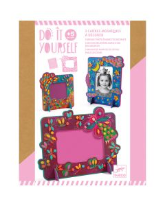 Djeco Do It Yourself Mosaic Photo Frames to Decorate - Fairy