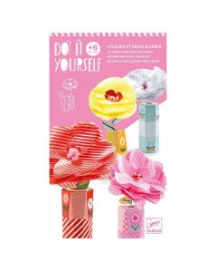 Djeco Do It Yourself - 4 Flowers and Vases to Create