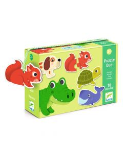 Djeco Educational Toddler Puzzle Duo - Animals