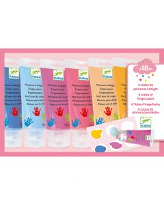 Djeco Finger Painting 6 Tubes - Sweet