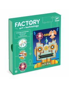 Djeco Factory Cyborgs - light up cards