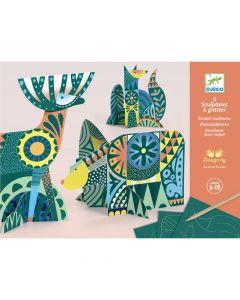 Djeco Scratch Cards - Animal Folk