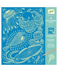 Djeco Scratch Boards - Sea Life