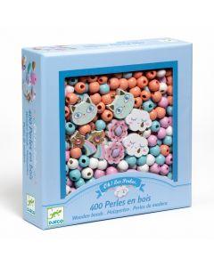 Djeco Wooden Threading Beads - Rainbows