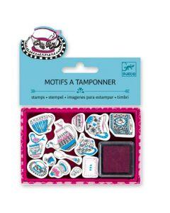 Djeco Mini Stamps - Tea Time