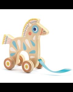 Djeco Baby White BabyPull Pull Along Horse