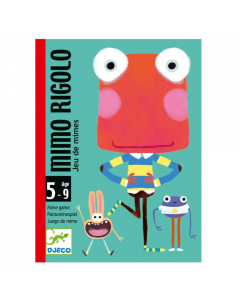 Djeco Card Games - Mimo Rigolo Miming Game