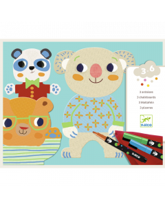 Djeco Chalkboards Toddler Colouring - Cuties