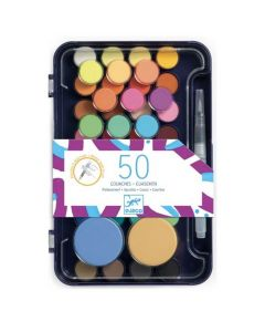 Djeco Colours For Older One - Artist's Palette of 50 Gouaches