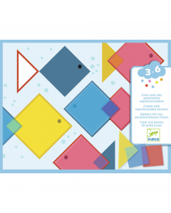Djeco Create With Re-positional Stickers - Magic Squares - SAVE 25%